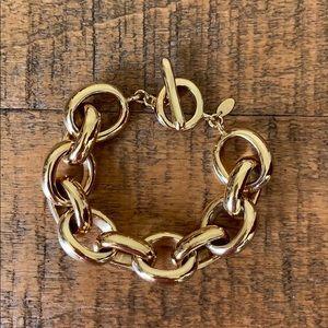 Gold Plated Link Bracelet